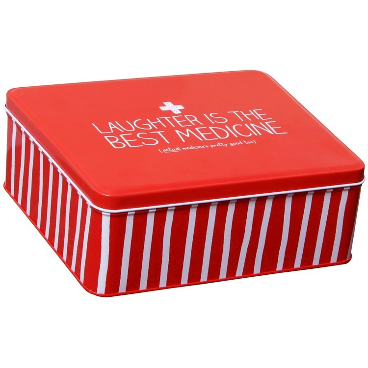 Laughter is the best medicine first aid tin