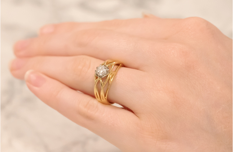 Lauren Brilliant Cut Diamond Ring