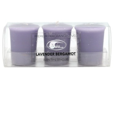 Lavender Bergamot Votive set 3
