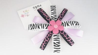 Lavender & Black Boutique Hair Bow