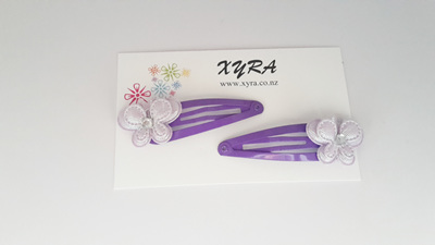 Lavender Butterfly Hair Clips (pack of 2 clips)