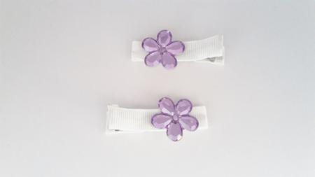 Lavender Flower Hair Clips