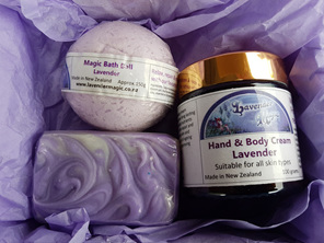 Lavender gift pack made in Carterton NZ