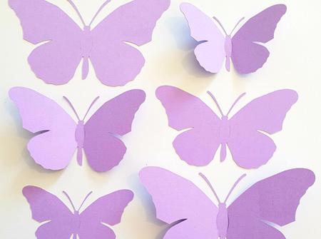 Lavender paper butterflies
