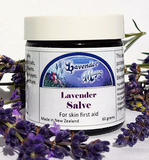 Lavender salve made in New Zealand by Lavender Magic