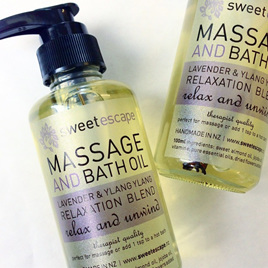 Lavender & Ylang Ylang Gourmet Bath & Massage Oil