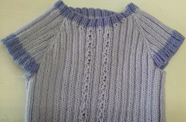 Merino 3 ply Baby Singlet with Sleeves