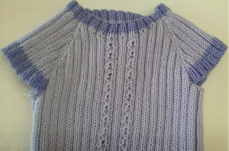 Lavenders Baby 3 ply Merino Singlet with Sleeves