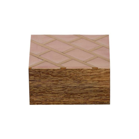 LAVI WOOD/RESIN BOX 10X10cm