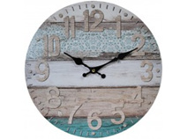 Lavida Clock Mixed Media Aqua