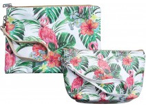 Lavida Cosmetic Bag S/2 Flamingoes
