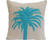 Lavida Cushion Blue Palm Tree