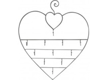 Lavida Hanging Jewellery Holder Heart