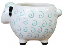 Lavida Planter White Sheep