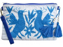 Lavida Purse Folk Birds Blue