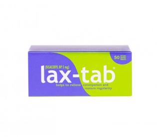 Lax-Tab (Bisacodyl 5mg) 50s