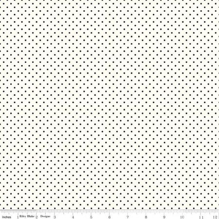Le Creme Swiss Dot Black C600-100