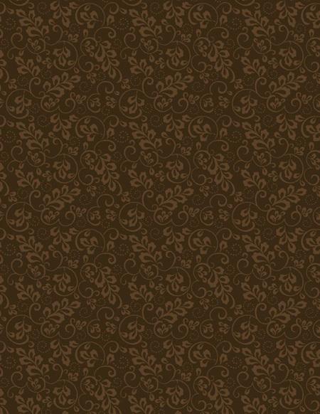 Leaf and Scroll Very Dark Brown 39136-229