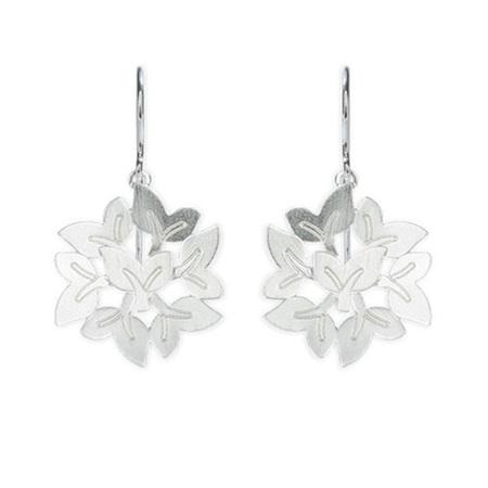 Leaf Bouquet Hook Earrings