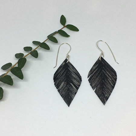 Leaf Earrings with Silver