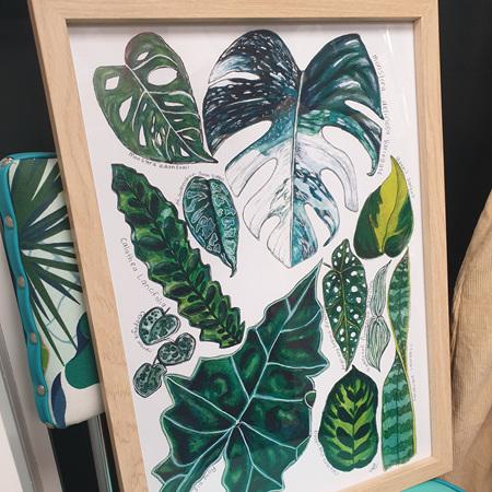 Leafy 11 - A3 Print Framed