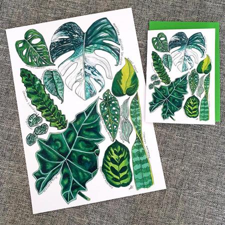 Leafy 11 Greeting Card