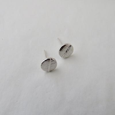 Leafy Dot Stud Earrings