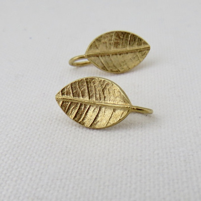 Leafy Drop Earrings - 18ct Gold Plate