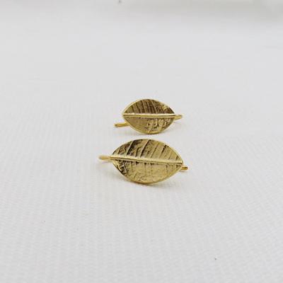 Leafy Drop Earrings - 18ct Gold Plate