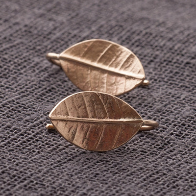 Leafy Drop Earrings ( solid 9ct yellow gold)