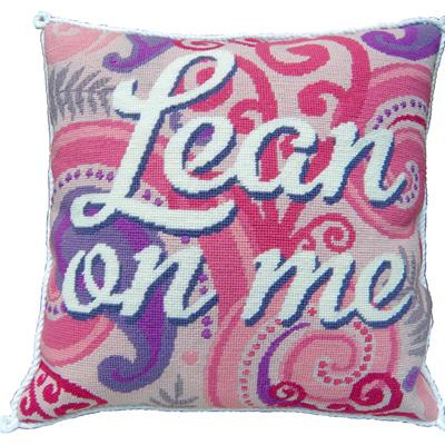 Lean on Me cushion sample