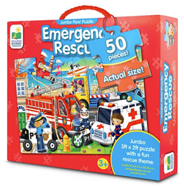 Learning Journey 50 Piece Jumbo Floor Puzzle: Emergency Rescue
