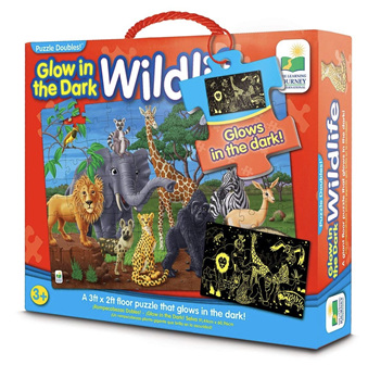 Learning Journey 100 Piece Jumbo Floor Puzzle: Glow In The Dark Wildlife