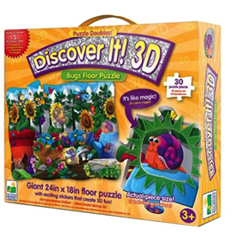 Learning Journey 3D Floor Puzzle with Lenticular puzzle pieces - Bugs