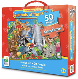 Learning Journey Animals Of The World Jumbo Floor Puzzle
