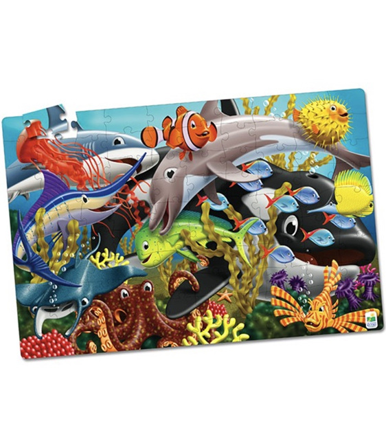 Learning Journey Puzzle Double Glow In the Dark Sea life  at www.puzzlesnz.co.nz