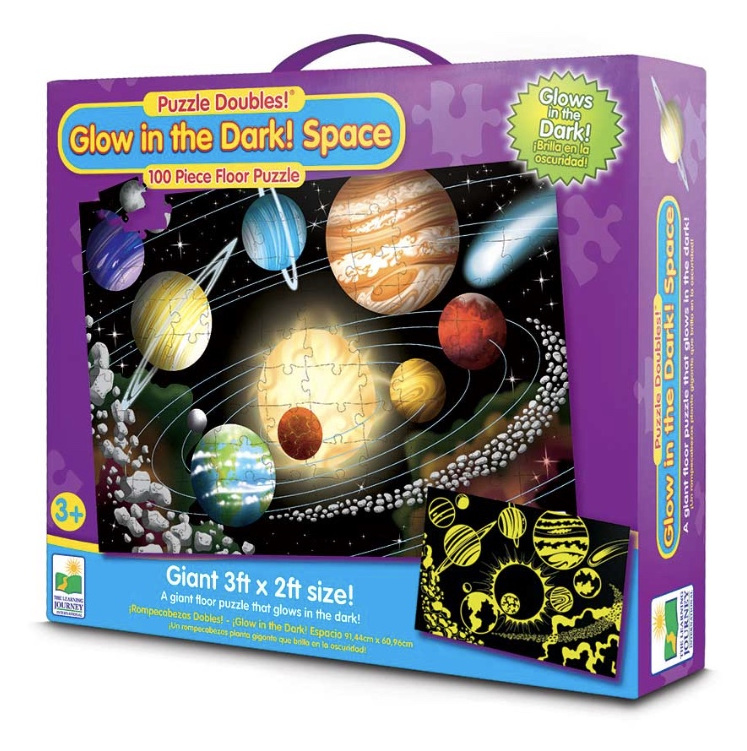 Learning Journey Puzzle Double Glow In The Dark Space at www.puzzlesnz.co.nz