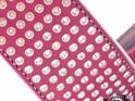 Leather Dog Collar with Handset Swarovski Crystals