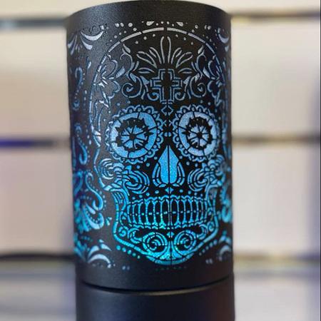 LED 8 Colour Changing - Black Skull