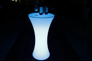 Led bar leaner illuminated glow furniture party hire tauranga