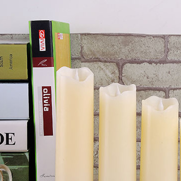 Large Real Wax LED Candles -  Pack of 3