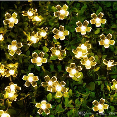 5m Cherry Flower Battery Operated Fairy Lights - Cool White or Warm White