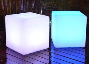 LED illuminated cube furniture