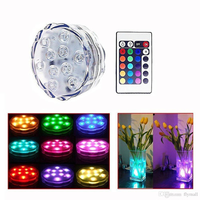 Submersible Underwater Accent Lights with Multi Color Remote