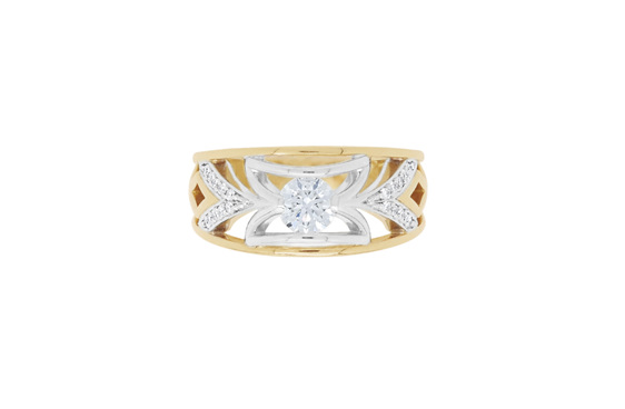 Leela from The Decades Collection - Unique Vintage Style Diamond Ring