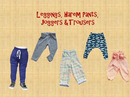 Leggings, Harem Pants, Joggers and Trousers