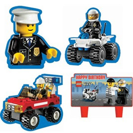 Lego City 4 pack of Cake Decorations