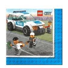 Lego City Beverage Napkins x 16