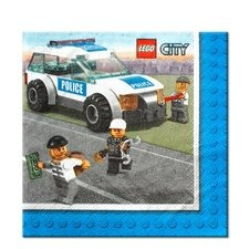 Lego City Beverage Napkins x 16