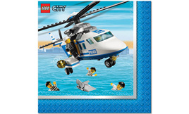 Lego City Lunch Napkins - pack of 16